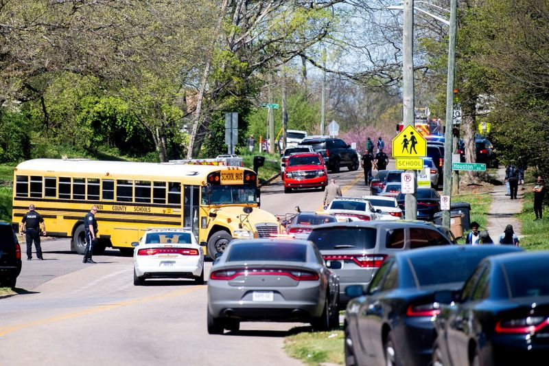 Police respond to the incident with reports of multiple shots fired at a Tennessee school