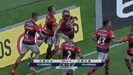 Flamengo penalties 2 (6) x (5) 2 Palmeiras for the 2021 Brazilian Super Cup