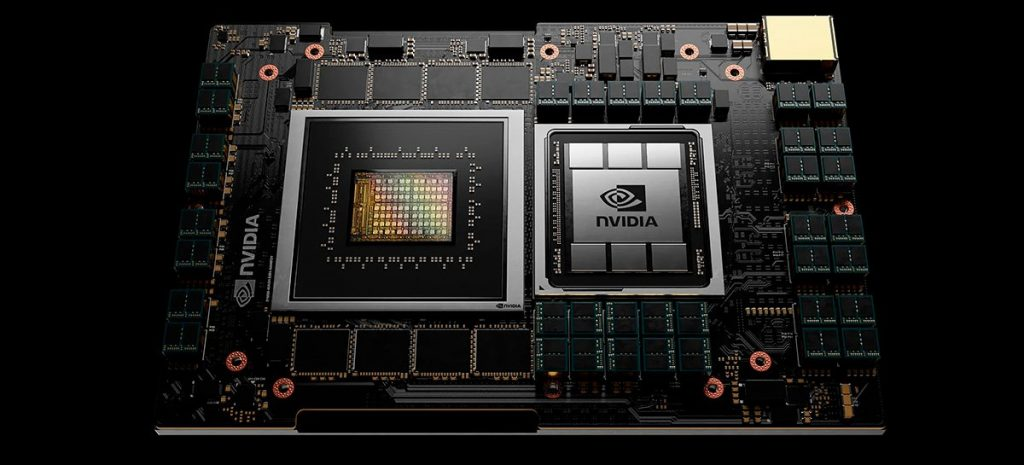 Intel CEO interacts with NVIDIA's Grace CPU