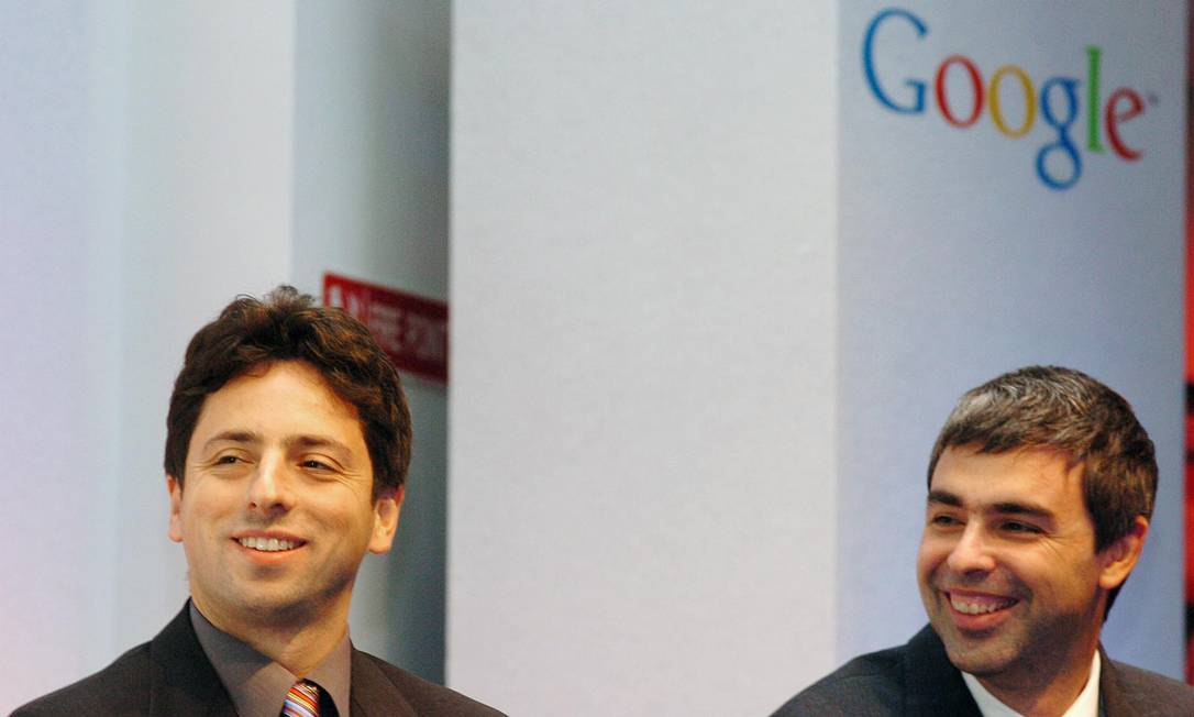 Google co-founders Larry Page and Sergey Brin Photo: John Gogil / Bloomberg News