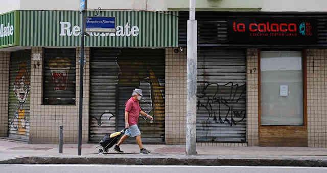 Trade shut down due to the coronavirus pandemic