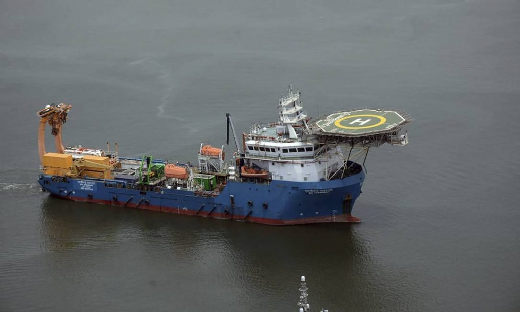 An Indian rescue ship joins the international search fleet for an Indonesian submarine Photo: - / AFP