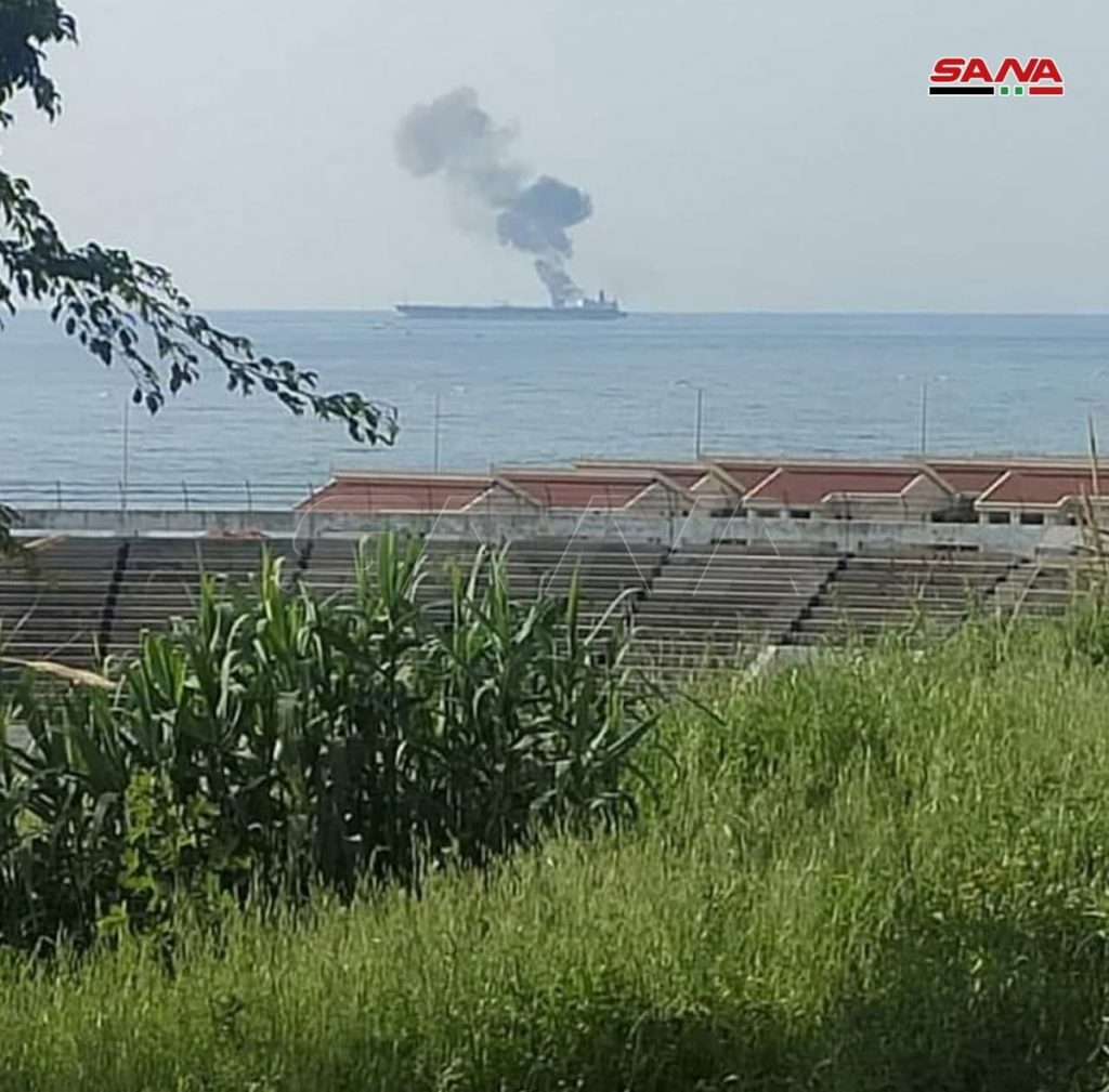 An attack on an Iranian oil tanker off the coast of Syria |  Scientist