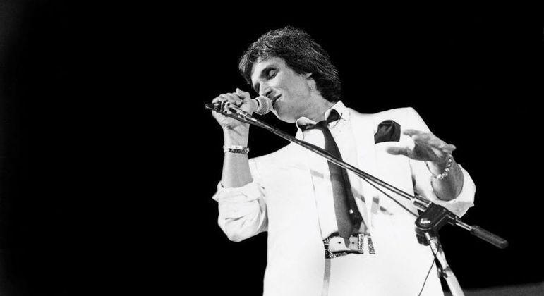 Roberto em show em São Paulo em 1983