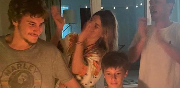 Carol Dickman celebrates her son David's birthday in an intimate party