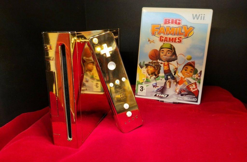 Golden Nintendo Wii game made for Elizabeth II is on sale for $ 300K |  Video game