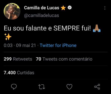 BBB 21: Camila De Lucas Complaining About Discounts On 'BBB Dia 101' Edition - Clone / Twitter - Clone / Twitter