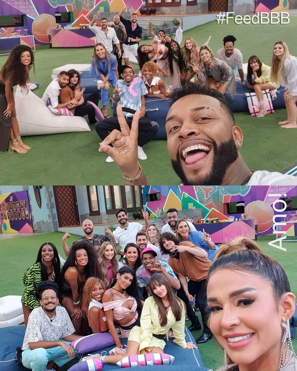 """The brothers make a group selfie in """"BBB 101 Day"""" - clone / Instagram"""