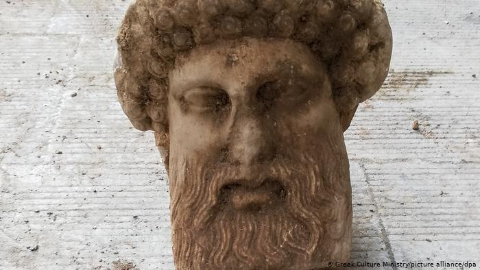 Head of Hermes discovered in Athens, Greece