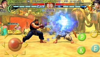 Street Fighter 4 also has a portable iOS and Android version with joystick support