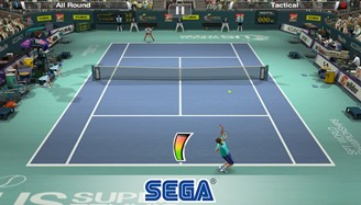 Virtua Tennis has a free mobile version with charming graphics