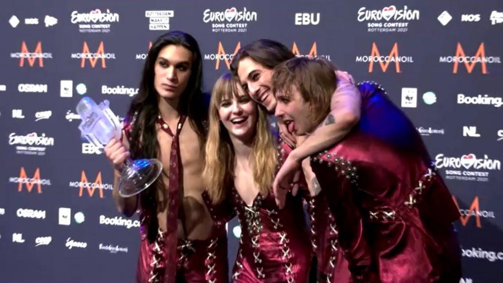 Banda italiana de punk rock Måneskin vence o Eurovision