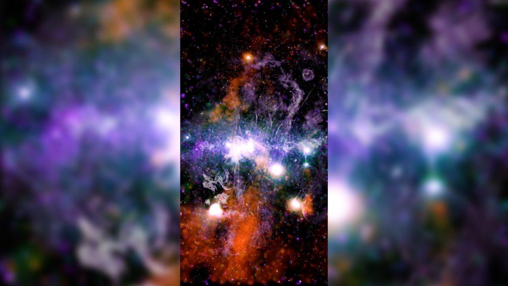 Imagem inédita divulgada pela Nasa mostra 'energia violenta' da Via Láctea