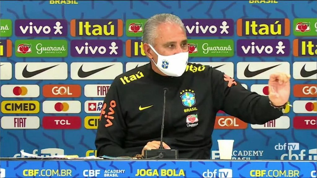 The Brazilian national team players meet with Tite and the President of the Brazilian Confederation and discuss participation in the Copa America |  Brazilian national team المنتخب