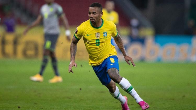 Gabriel Jesus during the Brazil national team match against Ecuador - Lucas Figueiredo / CBF - Lucas Figueiredo / CBF