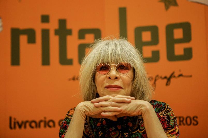 """Singer Rita Lee at the book launch """"Rita Lee, Biography"""", in Sao"""