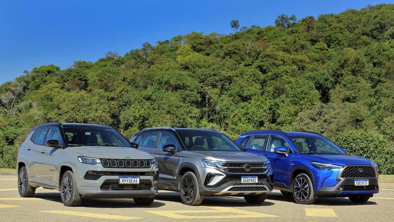 Comparison: Jeep Compass S vs Toyota Corolla Cross XRX Hybrid vs Volkswagen Taos Launch Edition