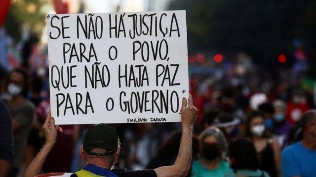 Demonstration against President Jair Bolsonaro last Saturday in Sao Paulo