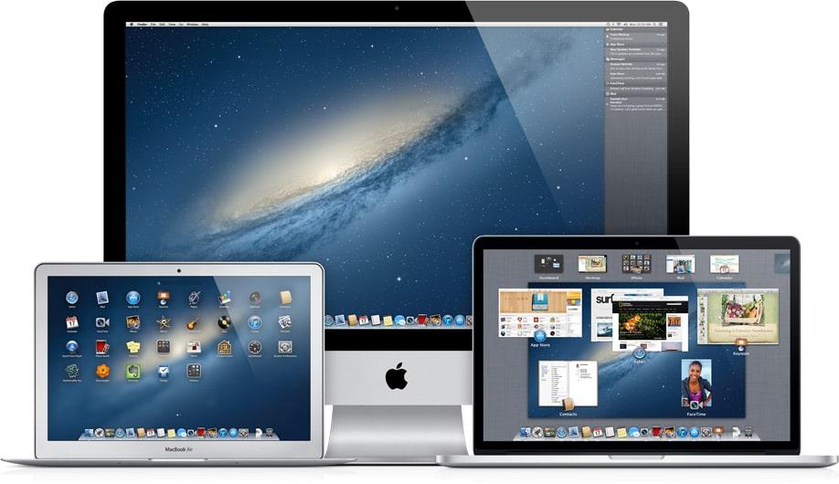 Macs rodando o OS X Mountain Lion