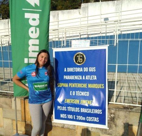 """Foto sobre """"Atleta da equipe GUS / Unimed conquista dois ouros e uma prata no Campeonato Brasileiro de Natação"""""""