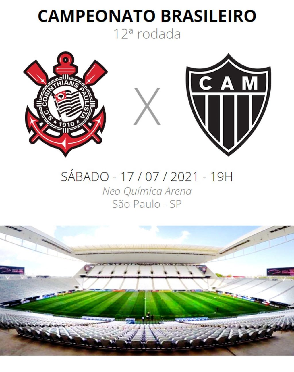 Corinthians vs Atlético-MG: See where to watch, teams, embezzlement and refereeing |  Brazilian series