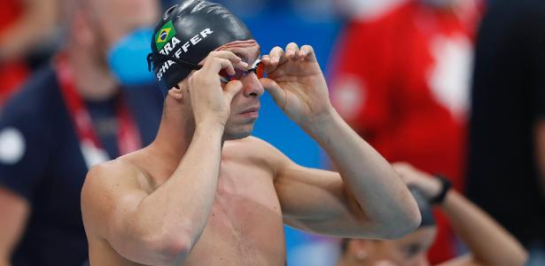 Fernando Scheffer in the final of the 200 meters freestyle