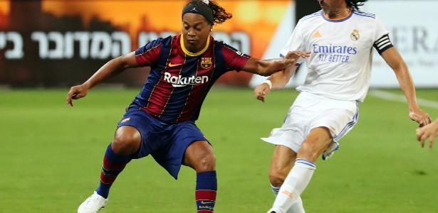 In a friendly match for legends, Real Madrid beat Barcelona in Israel