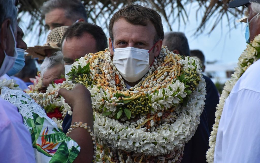 """Macron does not apologize, but acknowledges France's """"debt"""" to Polynesia due to nuclear tests 