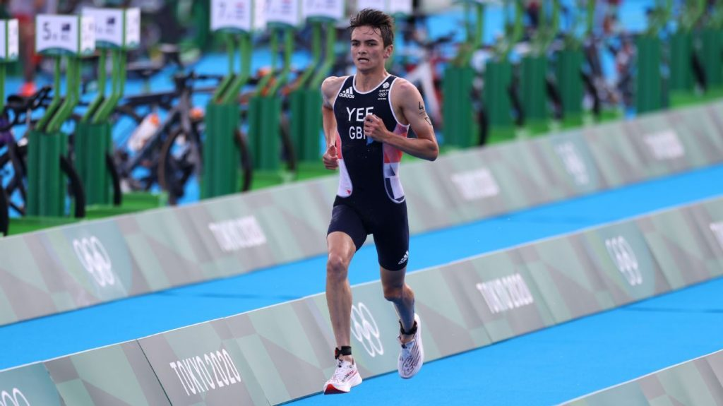 The England team dominated the triathlon mixed relay, winning gold and making history