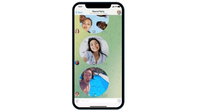 After voice messages, Telegram has a video messaging function - play - play