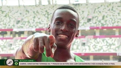 Gabriel Constantinou talks about running injured in the 110m hurdles semi-finals - Tokyo Olympics