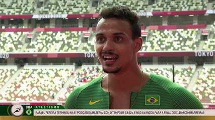 "Rafael Pereira does not leave the 110m hurdles race: ""I am 1000% happy"" Tokyo Olympics"