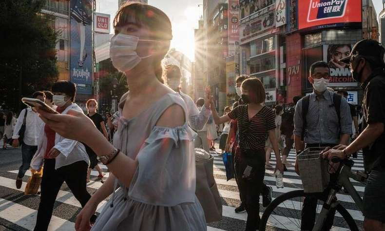 Tokyo has announced a record number of COVID-19 cases, with more than 5,000 daily infections (Photo: Yasuyoshi CHIBA/AFP)