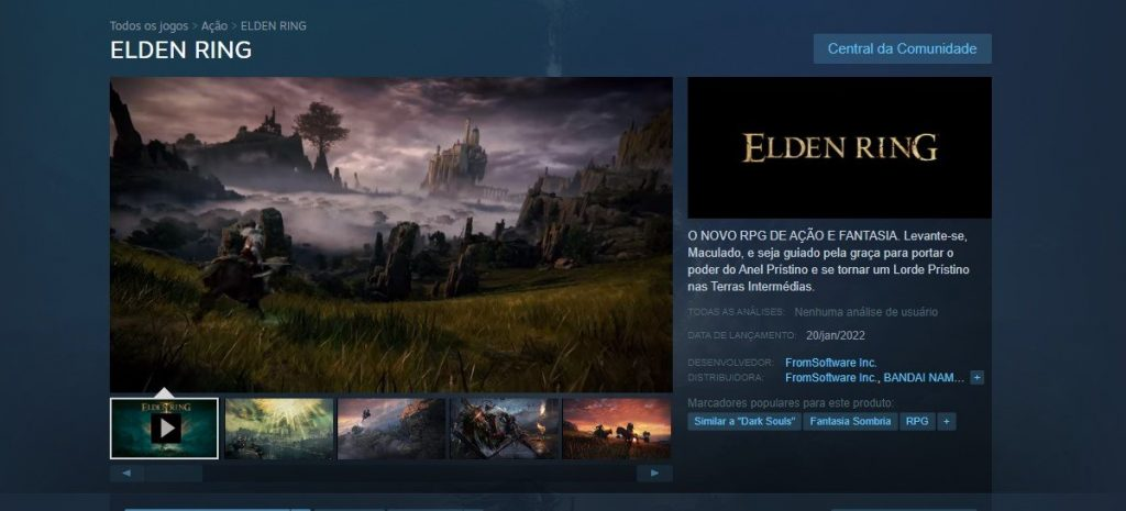 Elden Ring finally wins its Steam page with beautiful game images