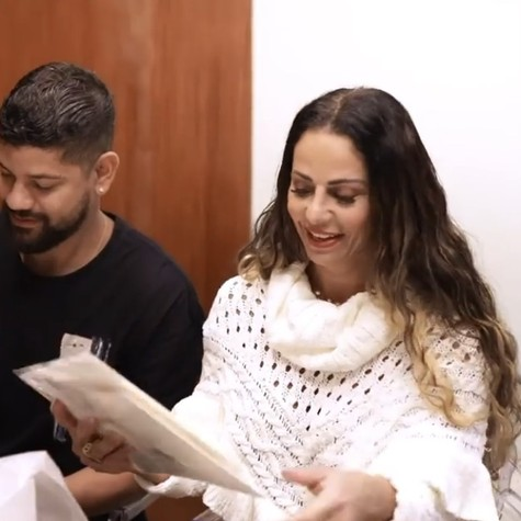 Vivian Araujo and Guilherme Militao (Image: Reproduction)