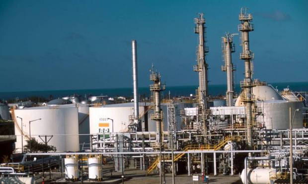The Northeast Lubricating Oil and Derivatives Refinery, one of the leaders in asphalt production in Carare, Brazil, is responsible for about 10% of product production in the country.  Photo: Exposure