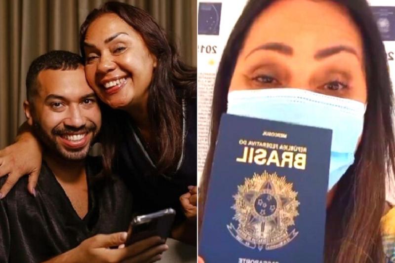 Dona Jacira, mãe de Gil do Vigor, tira passaporte para acompanhar o filho nos Estados Unidos. (Foto: Instagram)