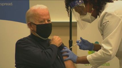 US President-elect Joe Biden gets a Covid-19 vaccine