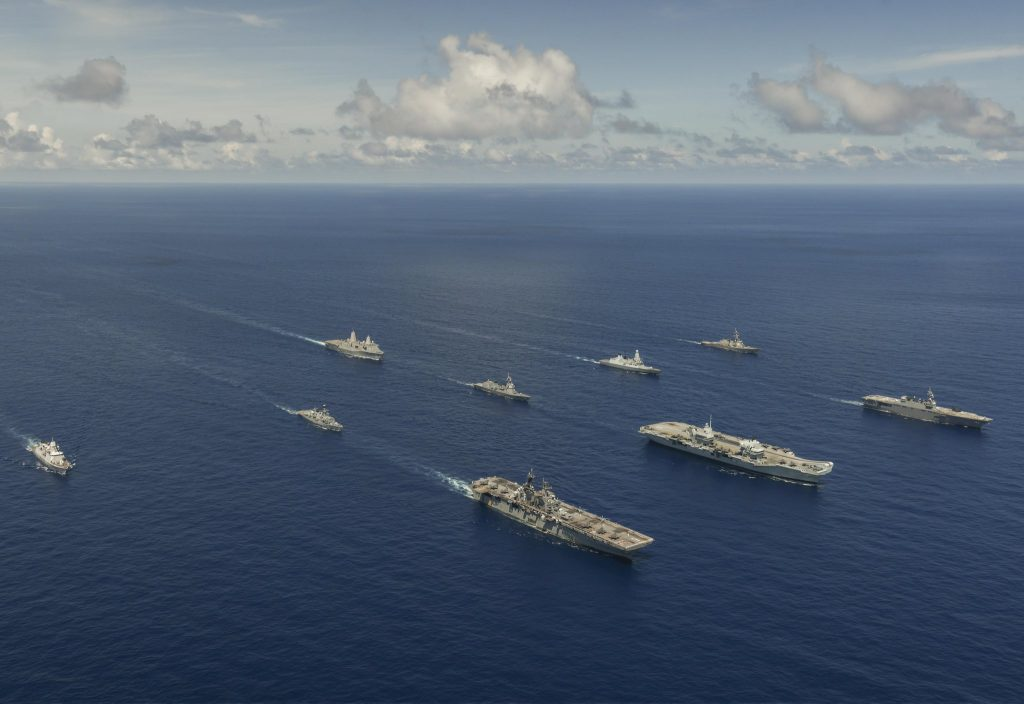 Large-scale global exercise (LSGE 21) - UK and US strike groups unite for naval power