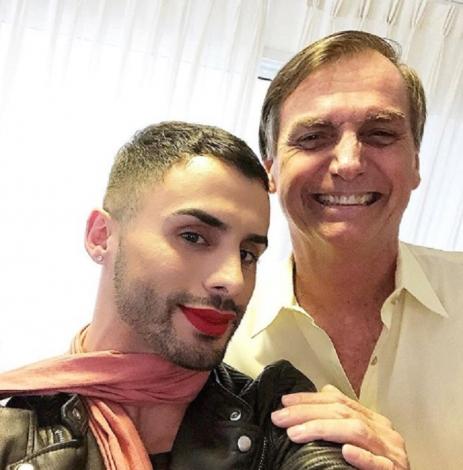 Augustin is an influencer, makeup artist, and (non-partisan) President Jair Bolsonaro supporter (Image: Instagram)