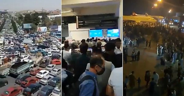After the Taliban attack, videos show the desperate rush to Kabul airport