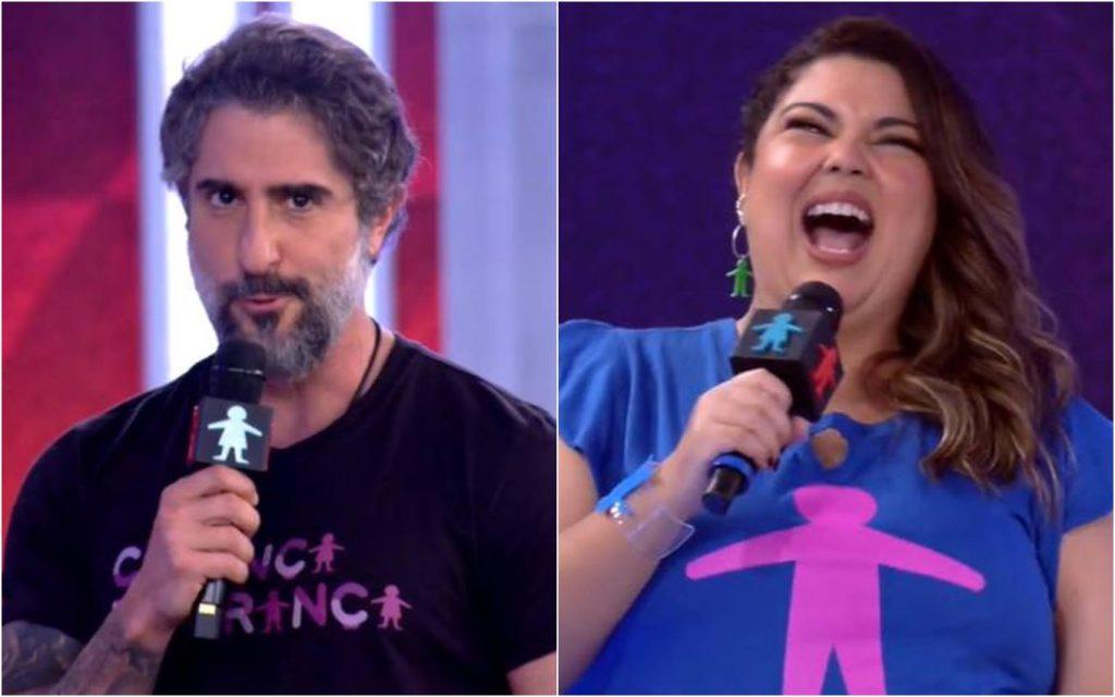 Marcus Mayon Appears as Presenter on Globo & Fabiana Carla Live Jokes · TV News