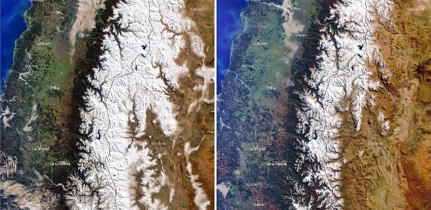 Megaseca in the Andes leaves mountaintops without snow
