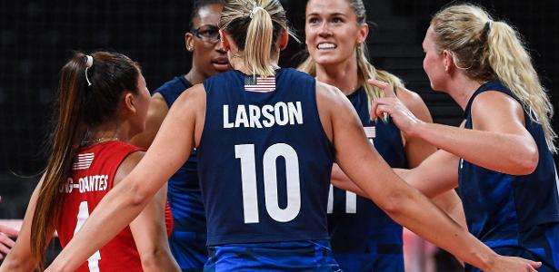 The United States defeated Serbia in the women's volleyball final
