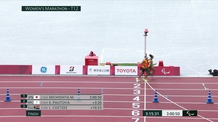 Edenosa de Jesus Santos finished fourth in the women's T12 marathon - Tokyo 2020 Paralympic Games