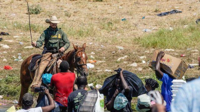Border agent on horseback