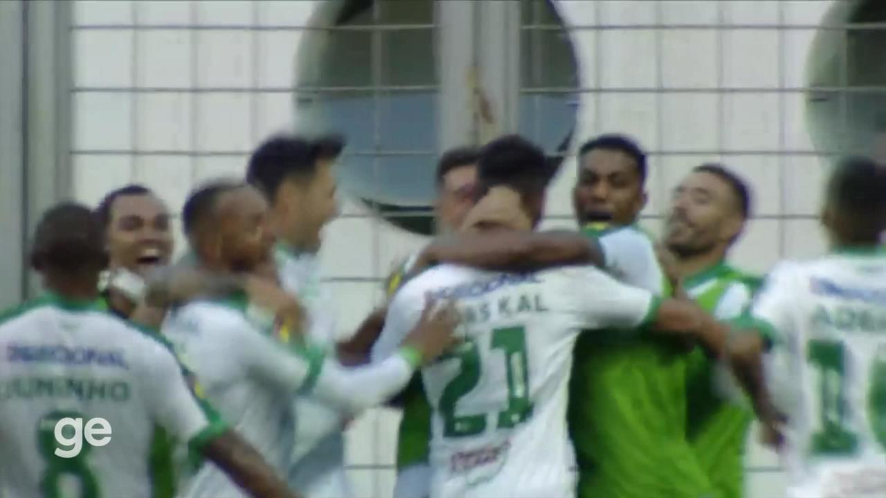 In the 24th minute of the second half - a goal from inside the area by Lucas Cal de America - MG against Atletico - Public Relations