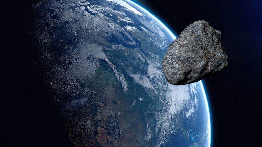 Ilustração de asteroide próximo à Terra