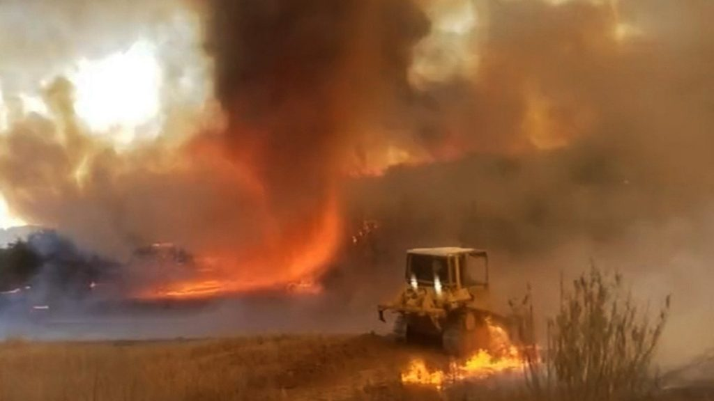 Hurricane Fire is a wildfire registered in the state of California;  watch |  Globalism