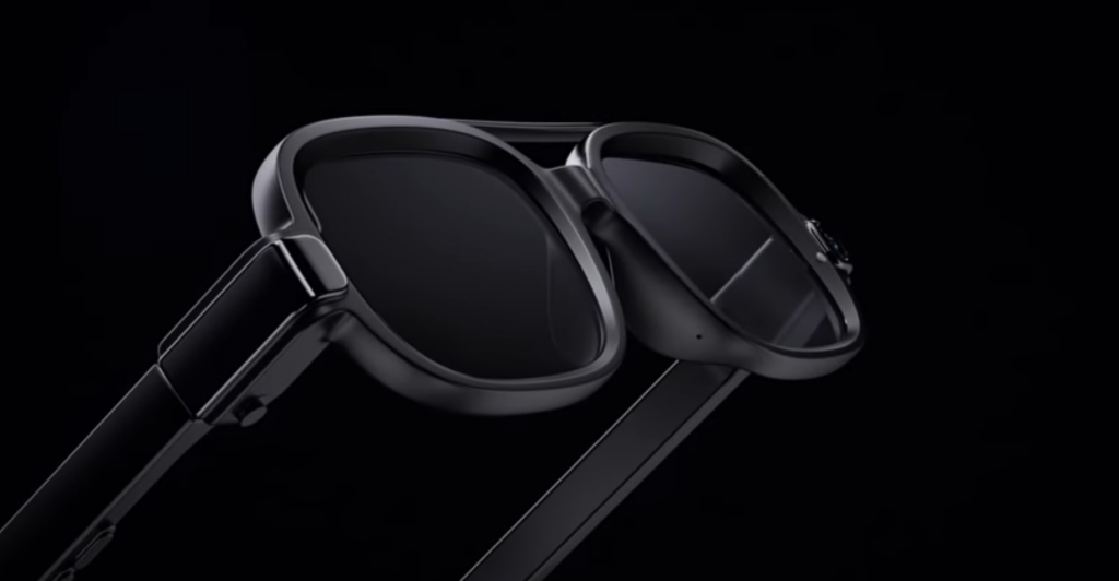 Xiaomi features smart glasses with microLED screens